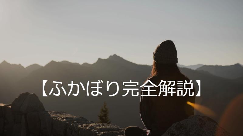 【ふかぼり完全解説】