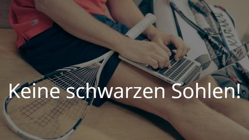ドイツでスポーツ! Keine schwarzen Sohlen! 規則を守って楽しくスカッシュプレイ【リアルなドイツ語】
