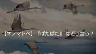 🔊『ばたばた』